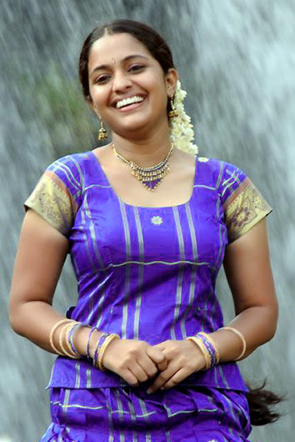 Cute Tamil Girl In Violet Color Blouse And Skirt  Homely -4203