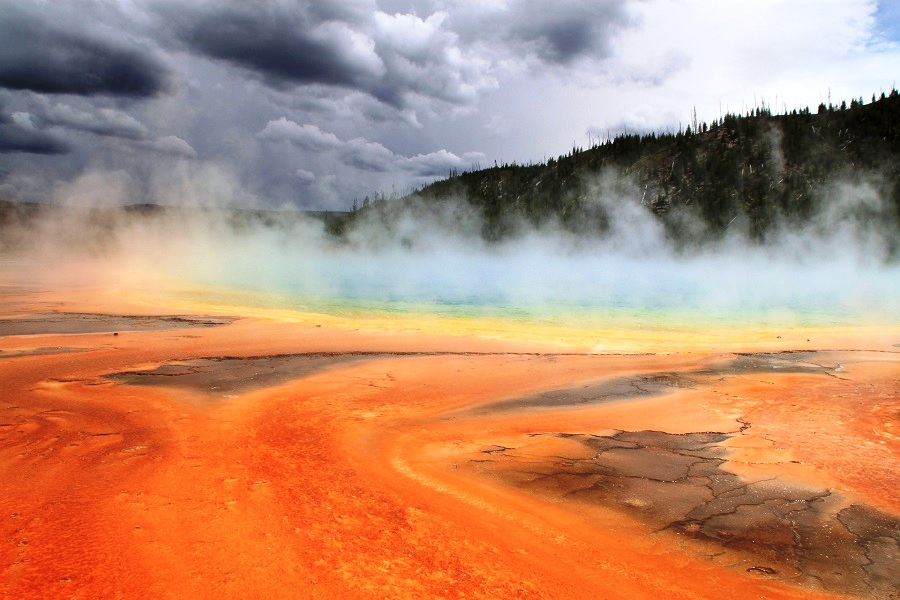 Grand Prismatic Spring, Wyoming - The Largest Hot Spring In The United States