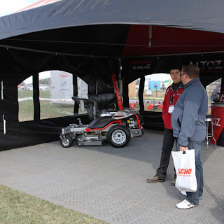 Greatmats perforated outdoor tile trade show event floor