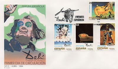 sobre, sello, PDC, Dalí, pintura