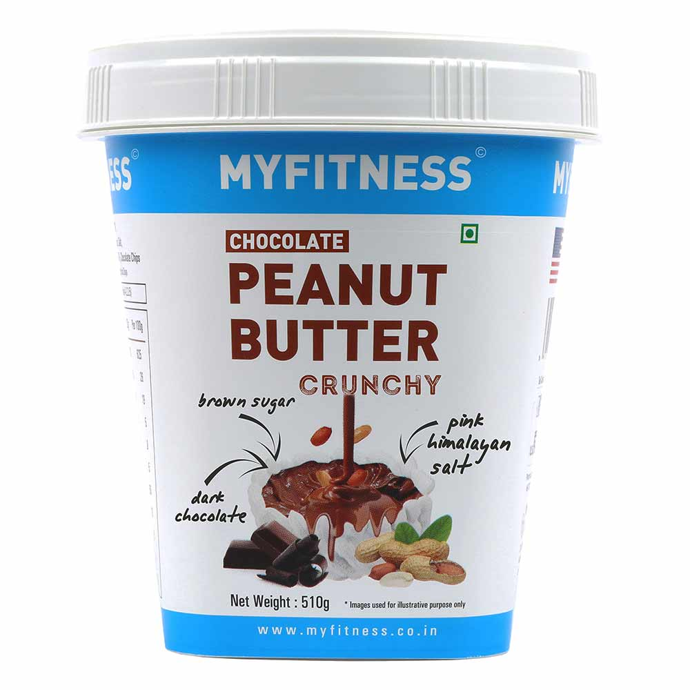 Myfitness Chocolate Peanut Butter Crunchy, 510 g