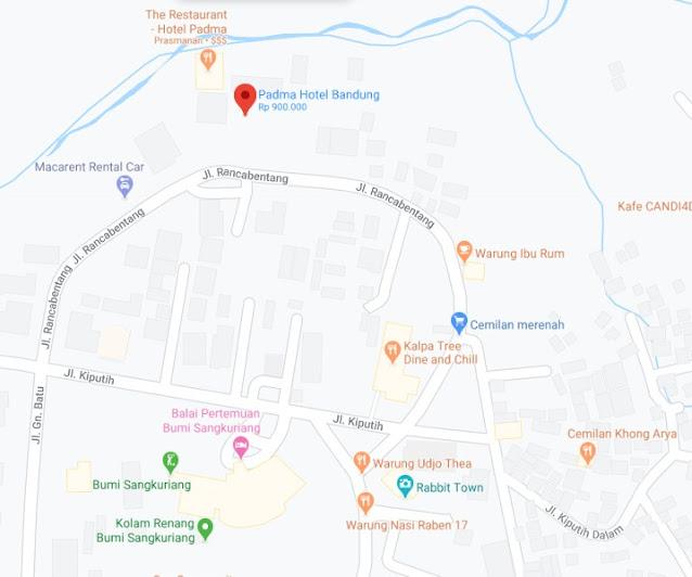 Map Letak Hotel Padma Bandung