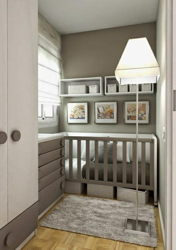 Dormitorios para beb en blanco y gris dormitorios - Dormitorio pared gris ...