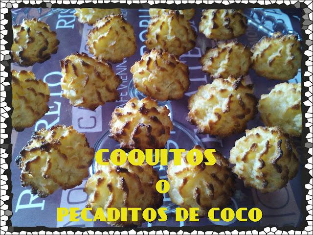 coquitos o bocaditos de coco