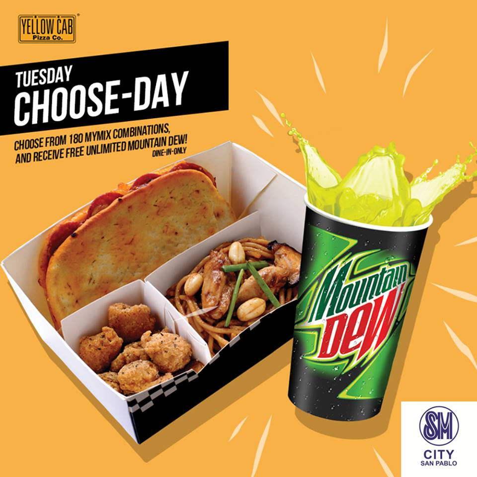 Yellow Cab's Tuesday Choose-Day Promo