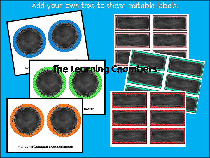 http://www.teacherspayteachers.com/Product/Chevron-and-Chalkboard-Transporation-Labels-Editable-764359