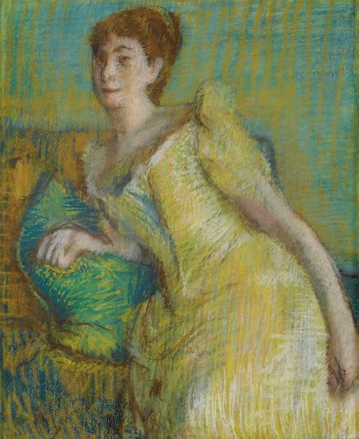 Эдгар Дега - Женщина в жёлтом