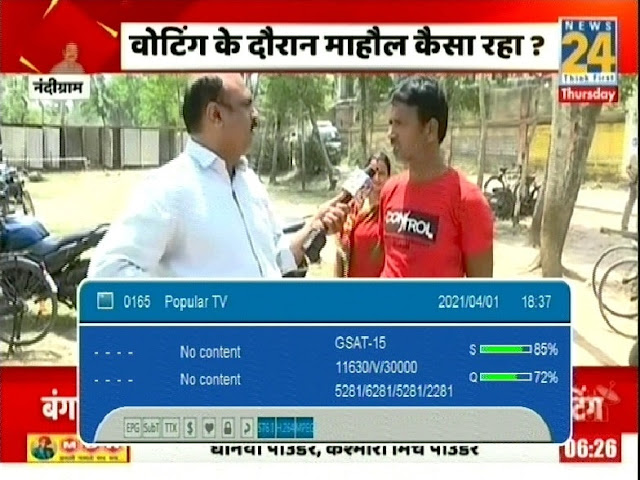News24 Hindi News TV channel number and satellite frequency on DD Free dish