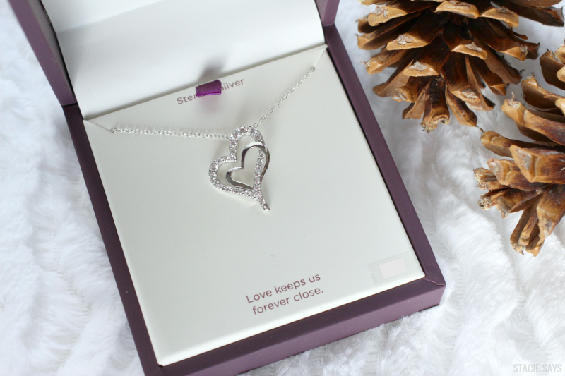 a heart pendant in a Hallmark jewelry box
