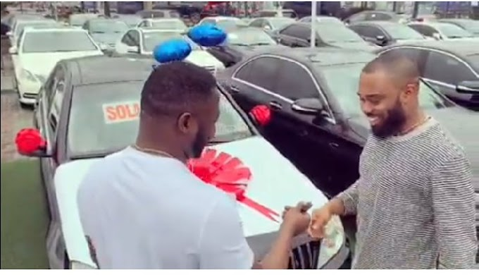 Mc Galaxy gifts his producer a Benz for producing Sekem 5 years ago