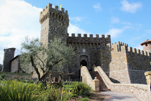 Castle Castello di Amorosa.at Napa Valley