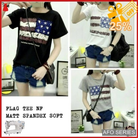 AFO427 Model Fashion Flag Tee NF Modis Murah BMGShop