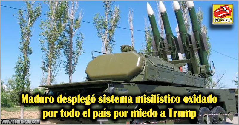 Maduro desplegó sistema misilístico oxidado por todo el país por miedo a Trump