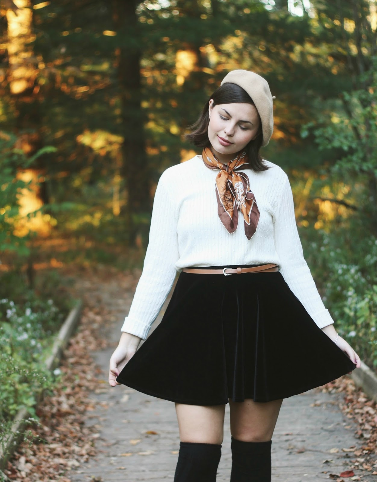 Velvet Skater Skirt | Someone Like You