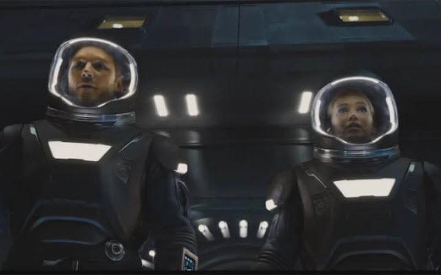 Morten Tyldum's Passengers, Chris Pratt, Jennifer Lawrence, wearing cosmo suits
