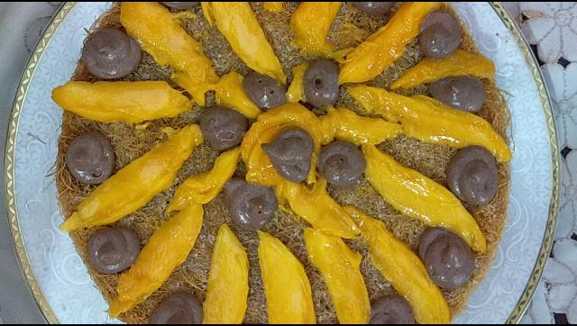 احلي صنية كنافة بالمانجو ممكن تأكلها في حياتيك الشيف محمد الدخميسي