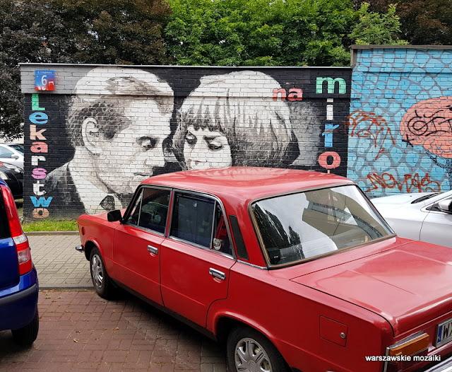Warszawa Warsaw mural graffiti streetart walentynki warszawskie napisy mury