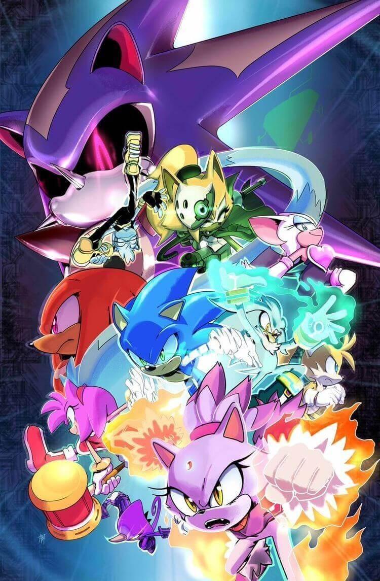 Arte da capa da edição 10 - Sonic IDW
