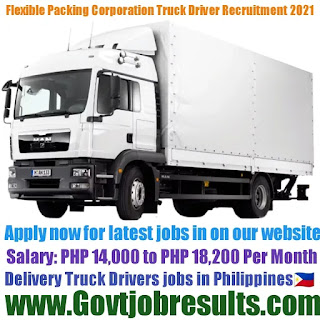 Flexible Packing Products Corporation Delivery Truck Driver Recruitment 2021-22