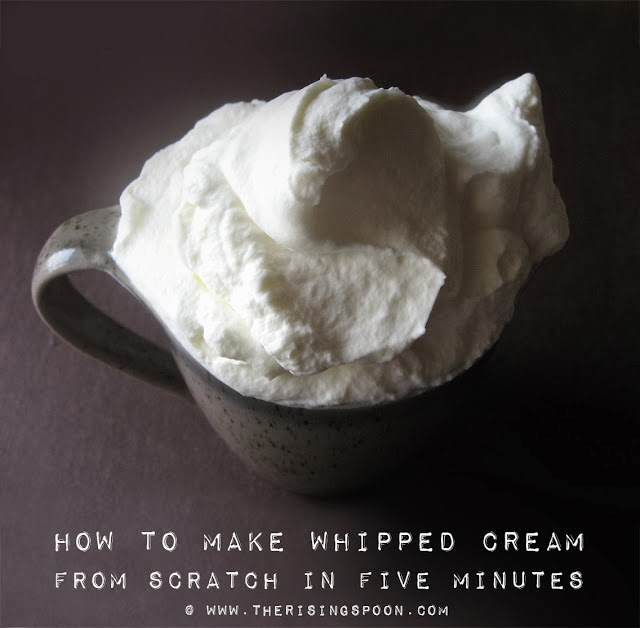 How to Make Whipped Cream From Scratch in Five Minutes | www.therisingspoon.com