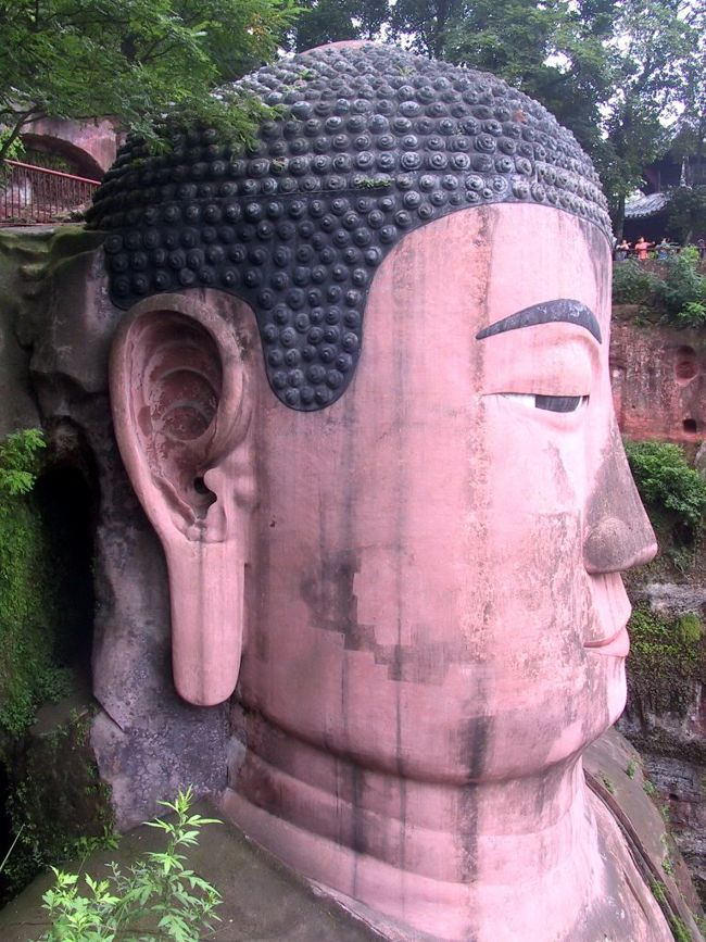 Close-up Shot Of Statue's Face