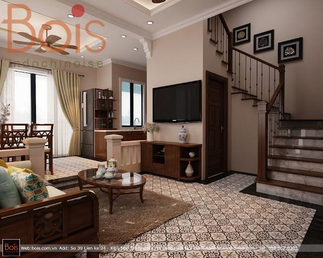 Sofa gỗ phong cách đông dương bois indochine