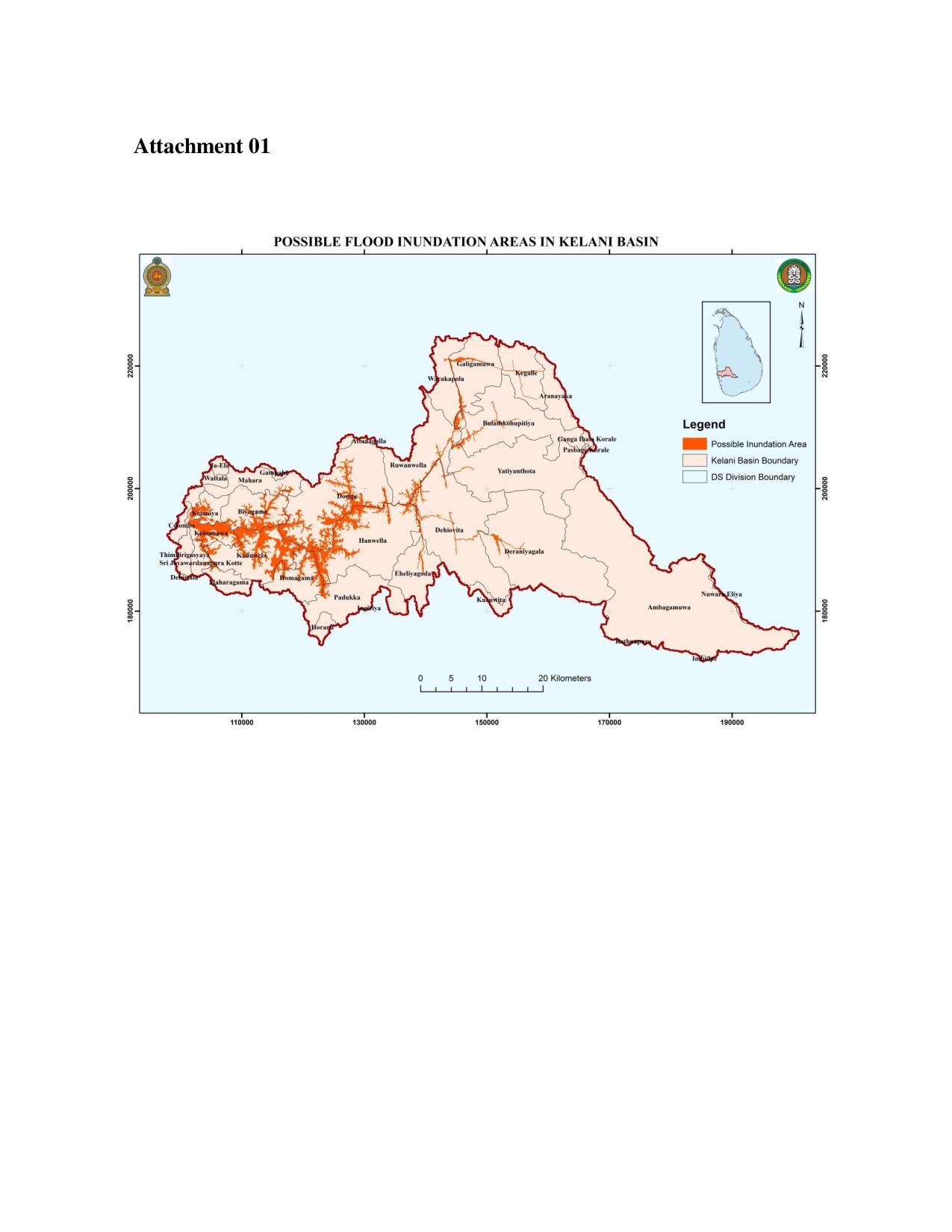 kelani river flood warning notice