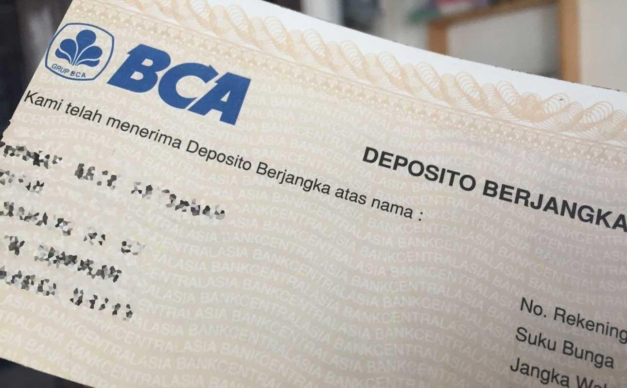 Perhitungan Bunga Deposito BCA