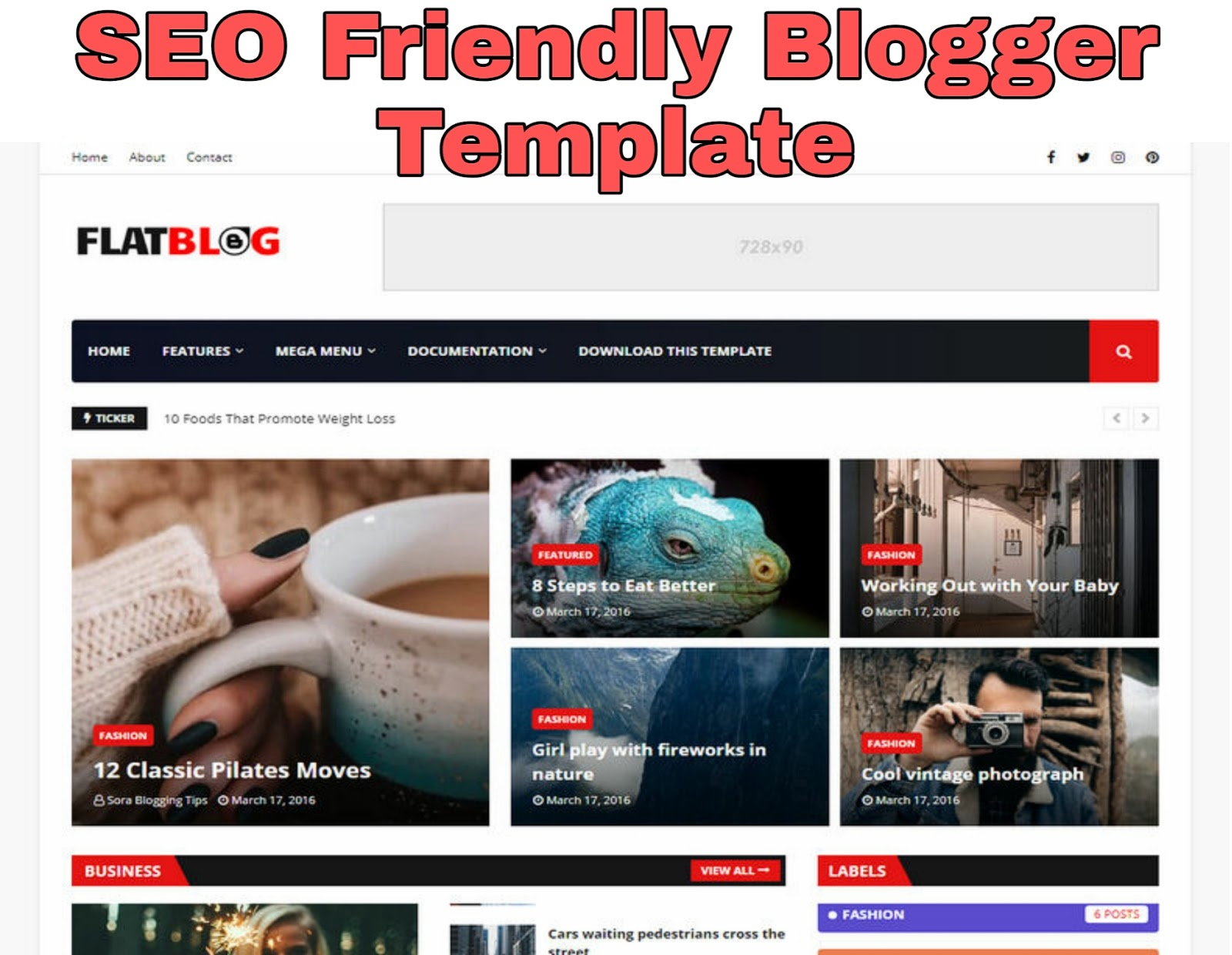SEO Friendly Blogger Template 2020 – Fast Load, Ads Ready
