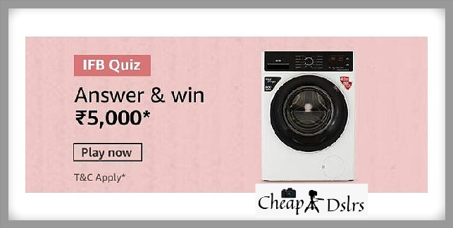 Amazon IFB Quiz Answers Washing Machine Win – Rs.5000