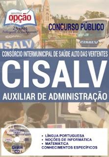 Apostila CISALV MG 2017 Auxiliar de Administração