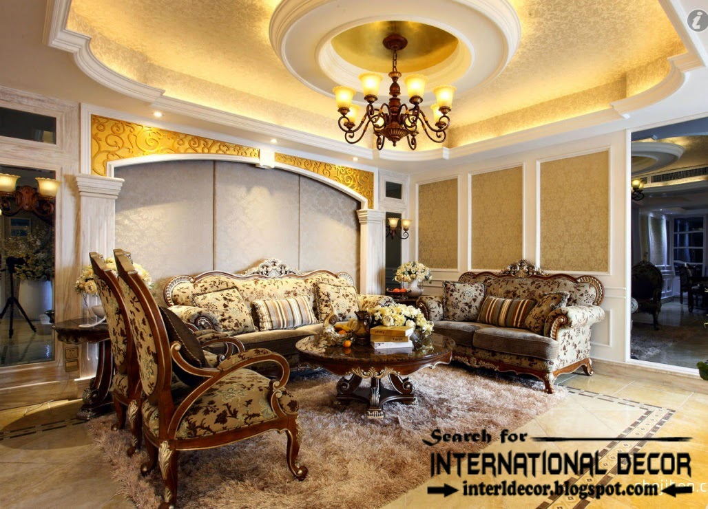 Modern Pop False Ceiling Designs Ideas 2015 For Luxury Living Room Interior