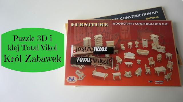 RECENZJA: Puzzle 3D i klej do drewna Total Vikol | Król Zabawek