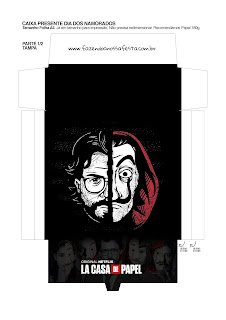Money Heist: Free Printable Boxes.