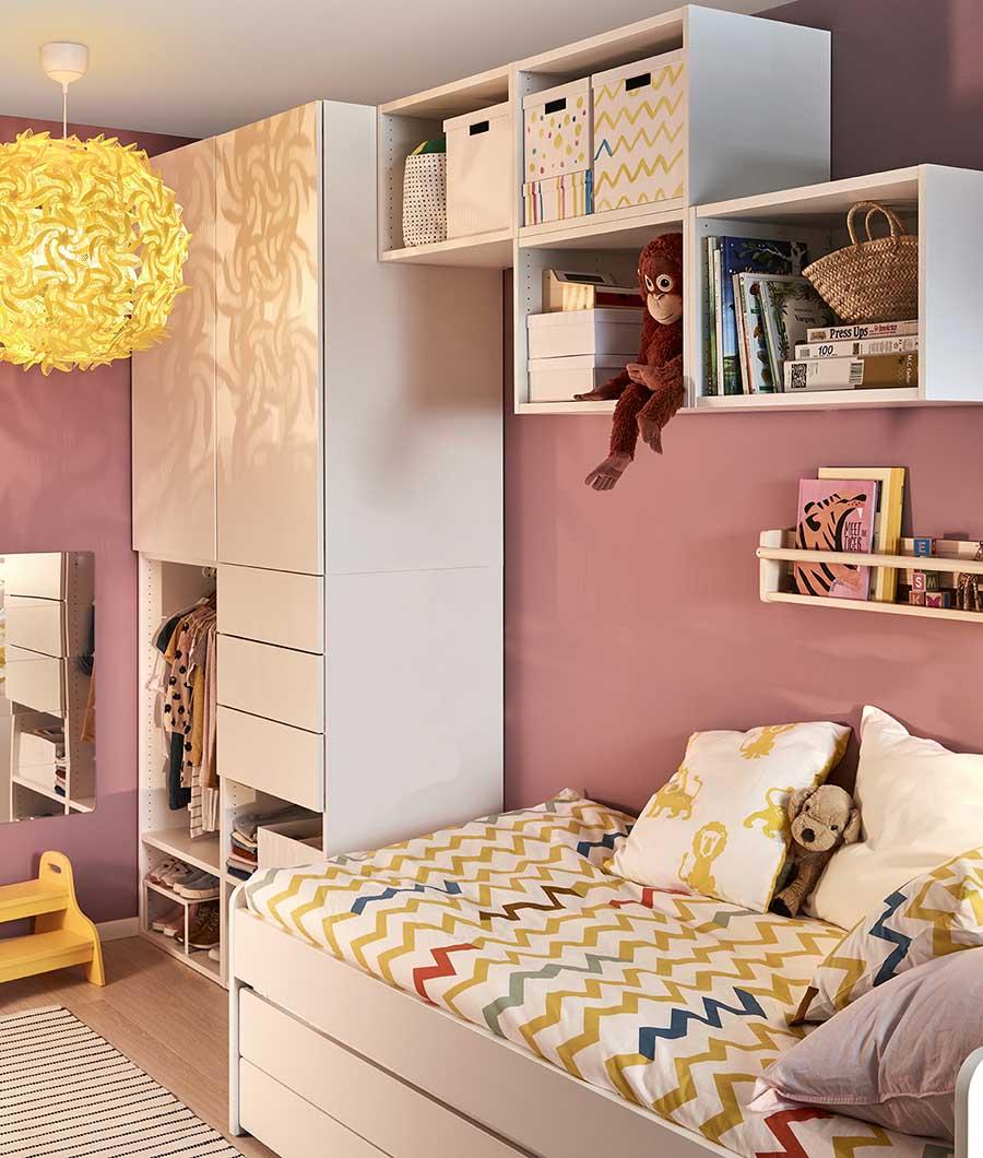 catálogo ikea 2020 the lab home España dormitorio muebles blancos funda nórdica motivos amarillo