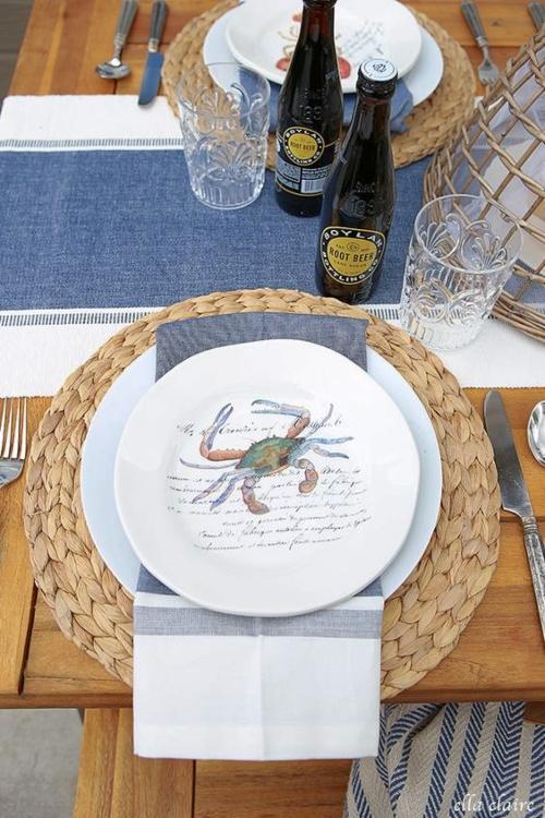 Coastal Sea Life Plates Dinnerware