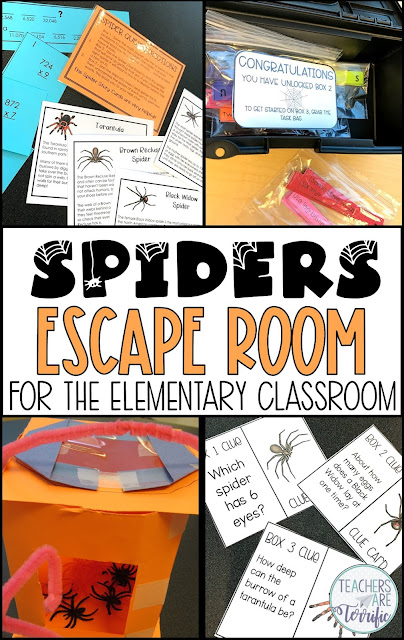 Calling all arachnid lovers- this Escape Room is for you! It's all about spiders and solving tasks and puzzles. Your students will love racing from clue to clue and then unlocking the boxes to get their next task. Best of all- this Escape Room culminates with a STEM Challenge!