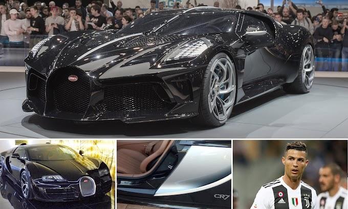 Photos: Cristiano Ronaldo 'buys world's most expensive car' a £9.5m one-off Bugatti La Voiture Noire