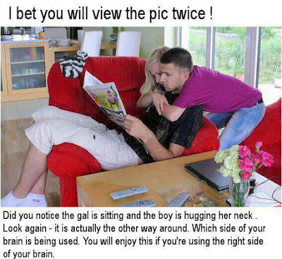 Optical Illusion-Two People Hugging