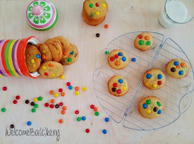 biscotti con m&m's