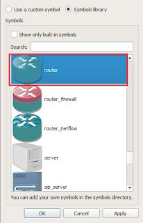 Memilih simbol router