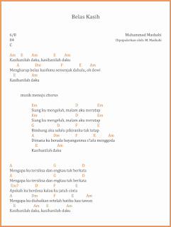 chord belas kasih lagu dangdut m mashabi