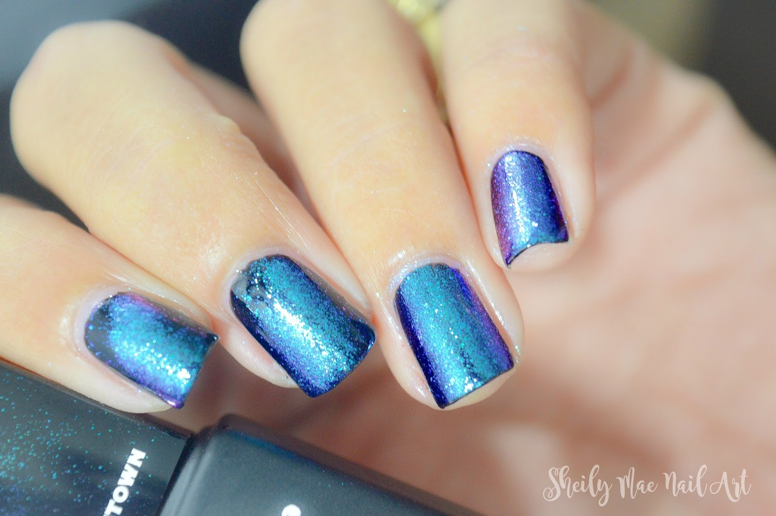 Galaxy Nails using Mirror Powder - Born Pretty Store Mirror Powder ...