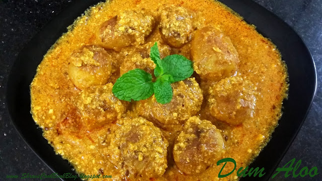 How to make Dum aloo gravy recipe with Baby Potatoes