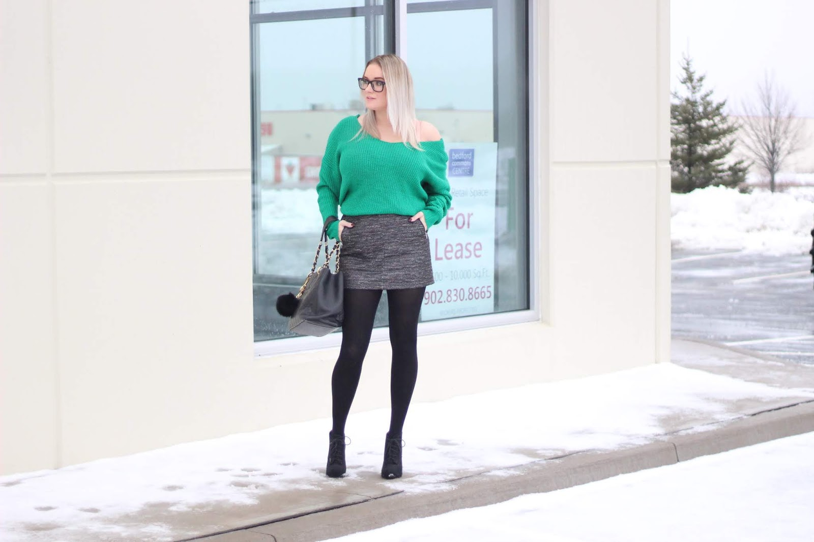 Green Twist Sweater