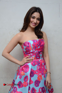 Actress Tamanna Latest Images in Floral Short Dress at Okkadochadu Movie Promotions  0123.JPG