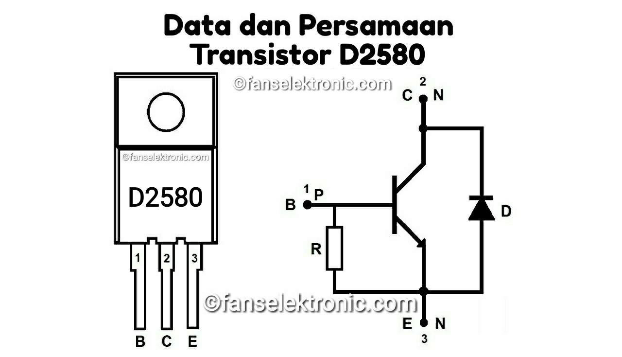 Persamaan Transistor D2580