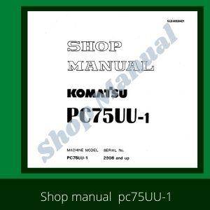 Shop Manual pc75uu-1