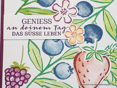 "SAB und Frühlings-/Sommer-Mini starten,  Grußkarten ""Beerenstark"" Stampin' Up! www.eris-kreativwerkstatt.blogspot.de"