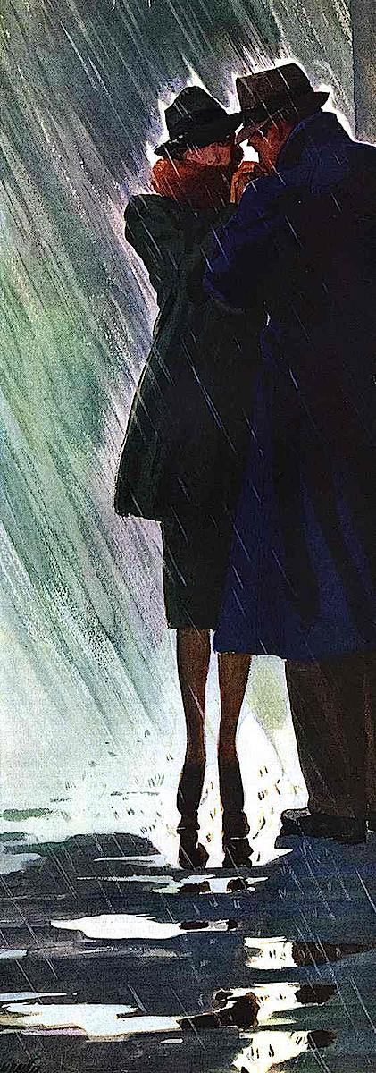 Al Parker, private meeting in the rain